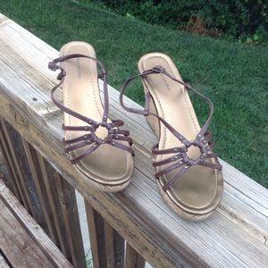 EUC Banana Republic Strappy Wedge Sandals